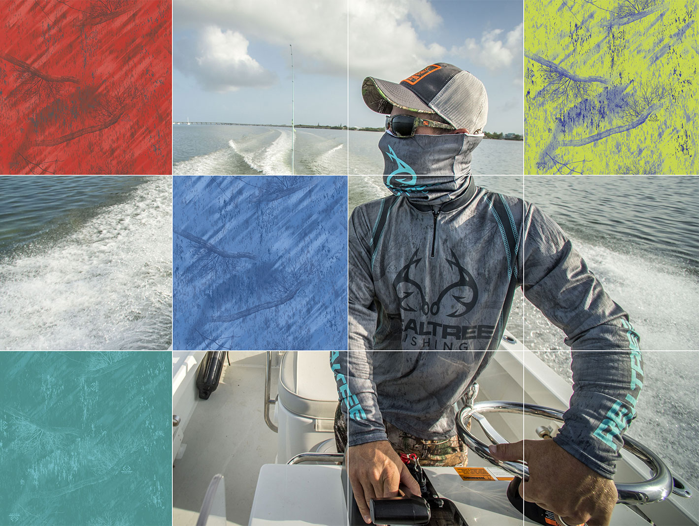 Realtree Fishing Pattern swatches for desktops