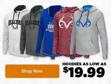 Hoodies on sale for as low as $19.99