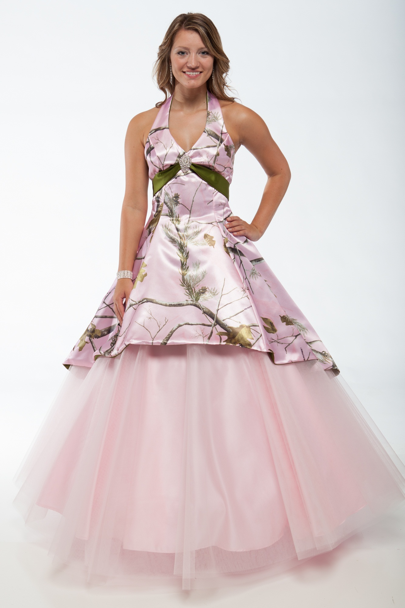 Realtree camo wedding dresses and formal attire for Pink and orange wedding dresses