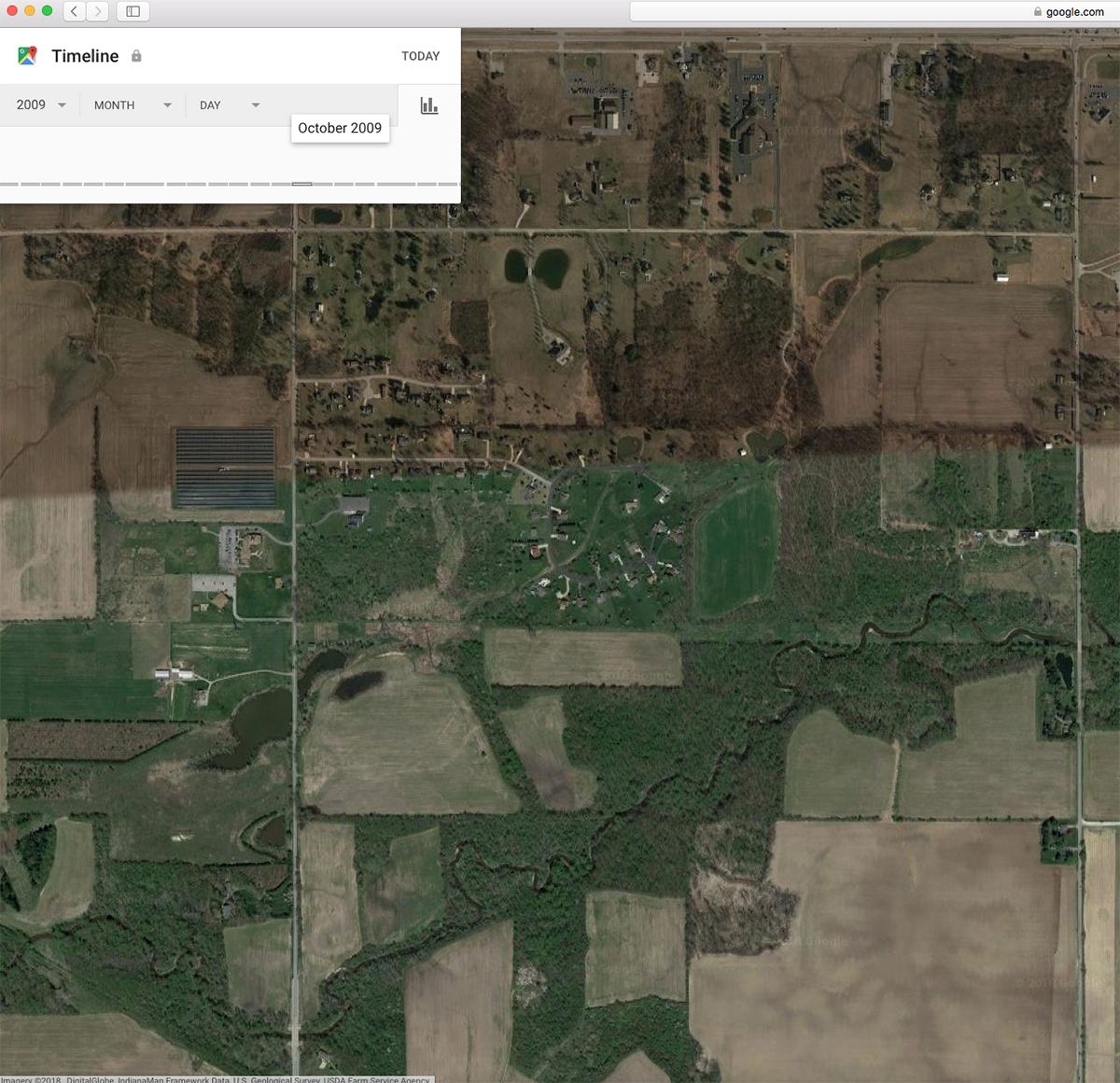 Using Google Earth Historical Layers For Deer Hunting