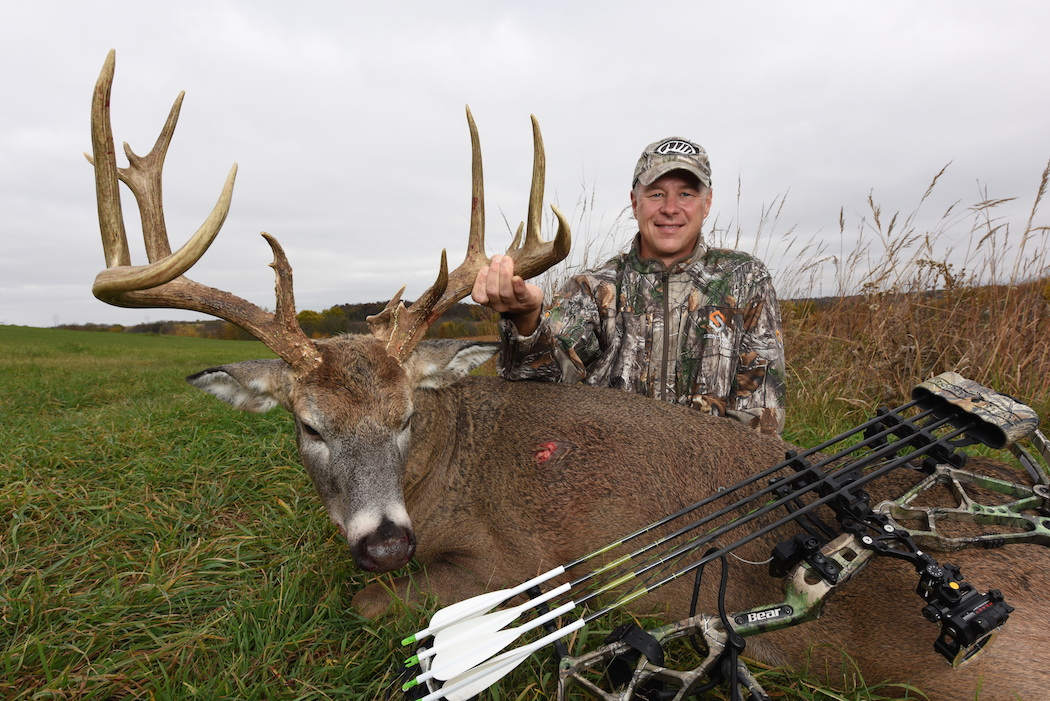 A giant buck falls the tale of talon deer hunting for Realtree game and fish forecast