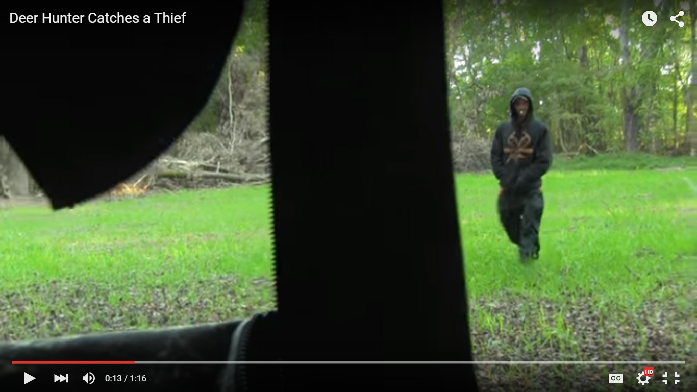 Ground Blind Hunter Films Realtree Clad Thief In Food Plot