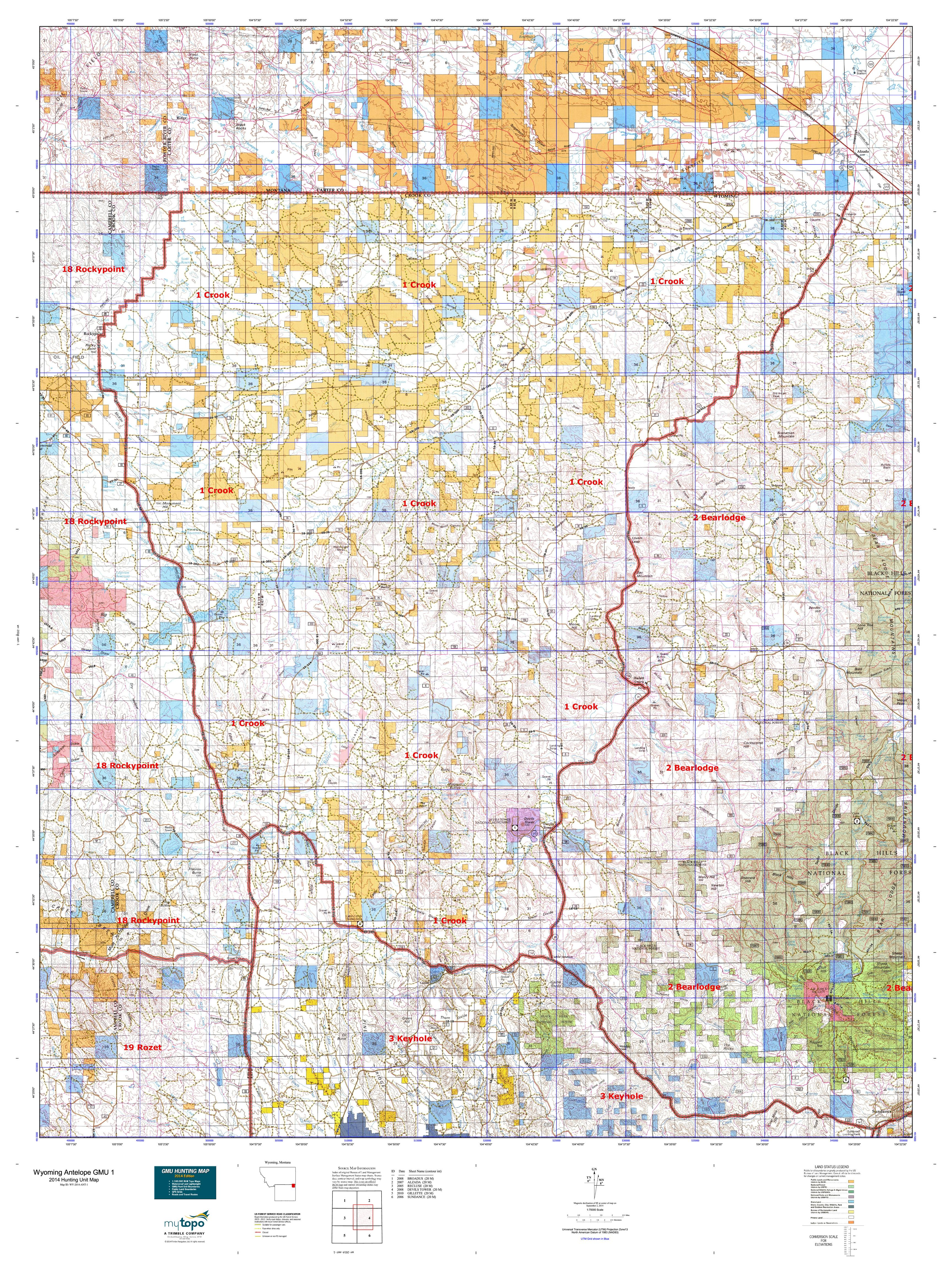 Purchase Your Wyoming Elk Game Management Unit (GMU) Map Today | Big ...