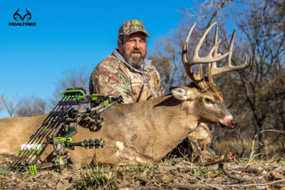 Art Helin arrowed this big Kansas buck. (Photo courtesy of Art Helin)