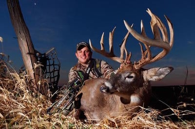Gabe Adair poses with a stud of a whitetail. (Photo courtesy of Gabe Adair)