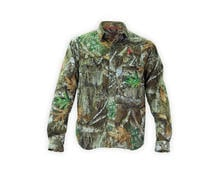 Thiessens V1 Whitetail Lightweight Button Up Shirt in Realtree EDGE Camo Preview