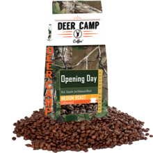 Deer Camp Coffee® Packaged in Realtree Xtra Green Camo Preview