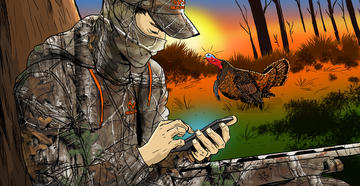 Check out the 10 reasons why you suck at turkey hunting. © Ryan Orndorff illustration