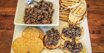Serve the livers over toast or crackers as an appetizer.