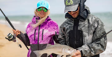 The new Frogg Toggs Realtree Fishing apparel boasts the best of waterproof technology and styling. (© Phil Hughes photo)