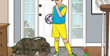 What Role Does Team Sports Play In Youth Hunter Decline? -- illustration by Peter Sucheski