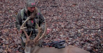 Krysten McDaniel Hunts Crazy Non-Typical Buck