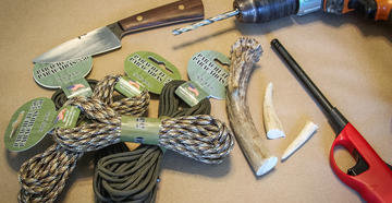 Do you know how to make a turkey hunting tote from a deer antler and paracord? (© Michael Pendley photo)