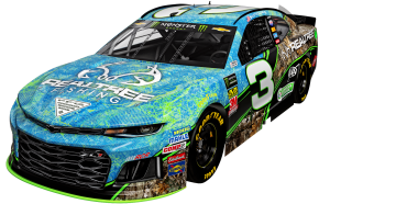 See No. 3 Car Decked Out in Realtree Fishing and EDGE Camo Patterns