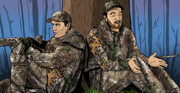 6 Reasons Your Turkey Hunting Buddy Won't Kill a Bird This Spring (c) Ryan Orndorff illustration