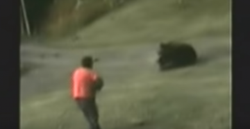 Watch Man Shoot Charging Grizzly and Barely Escape