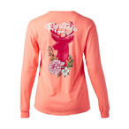 Realtree Women's Floral Deer Long Sleeve T-Shirt