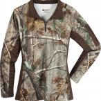 Rocky Women's Silenthunter 1/4 Zip Camo Shirt in Realtree AP