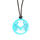 Titanium Buzz Women's Leather Necklace with Aqua Stainless Steel Realtree Logo