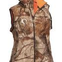 Women's Prois Reversible Sherpa Fleece Vest in Realtree AP and MAX-1