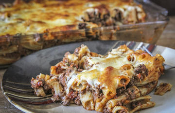 This easy baked venison rigatoni is straight up comfort food.