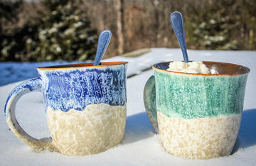 Next time it snows at your house, mix up a batch of bourbon maple snow cream.