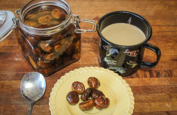 Serve the chestnuts over ice cream or with a cup of coffee for breakfast.