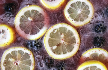 Take advantage of summer blackberries to make this refreshing blackberry lemonade punch.