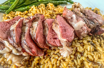 Slice the tenderloin into thin medallions and serve with rice and a vegetable.