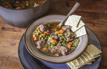 Use canned venison to make a quick soup that taste like it cooked all day.