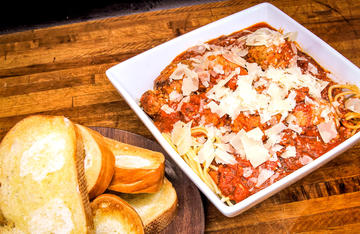 Venison meatballs simmered in a flavorful tomato sauce and piled high over pasta is always a family favorite.