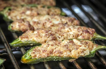Grill until the peppers are cooked through and the stuffing is a bubbly golden brown.