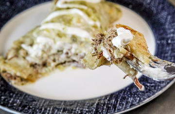These cheesy, creamy enchiladas are the perfect way to use your wild turkey legs and thighs.