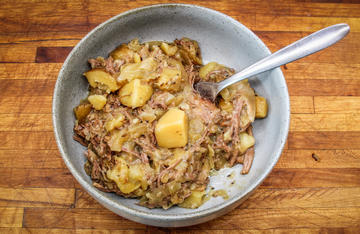 This easy slow cooker roast features potatoes, sauerkraut, and some of the tastiest venison you'll ever eat.