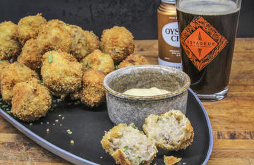 Don't let the unusual name bother you. These tasty snacks are basically deep-fried venison and gravy.