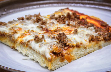 Make the ever popular cafeteria school pizza even better with ground venison as a topping.