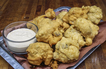 Serve these light and fluffy mushroom fritters as a side dish or an appetizer.
