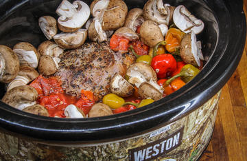 Slow-cooked flavor abounds in this easy Italian-style elk pot roast.