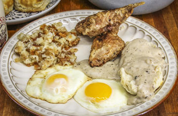 Celebrate Father's Day by making your dad one of his favorite meals like this fried rabbit breakfast my dad has always enjoyed.