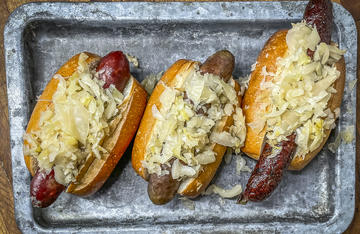 This classic combo develops even more flavor when you grill them together