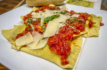 Squirrel meat is wonderfully versatile and makes the perfect filling for these homemade ravioli.