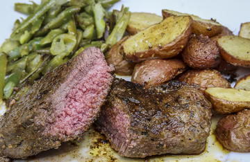 Pan-seared elk backstrap is a quick and easy meal perfect for family or guests.