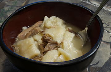 A steaming bowl of squirrel and dumplings are perfect after a long day afield.