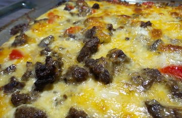 Wild Pig Breakfast Casserole is a hot and filling breakfast that is always a camp favorite.