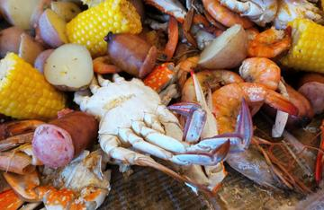 A classic crab and shrimp boil is a must have seafood meal.