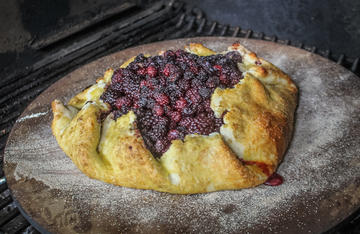 You can bake your galette in the oven, but cooking it on the grill gives you extra flavor.