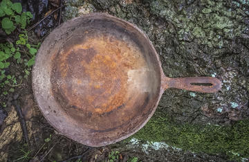 Don't let your skillet end up like this. Photo credit A. Maxwell