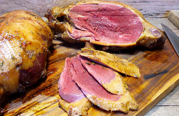 Sorghum and soy smoked duck packs a lot of flavor with very little work.