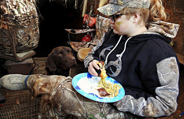 When the birds aren't flying, a good breakfast can be the best part of a duck hunt.