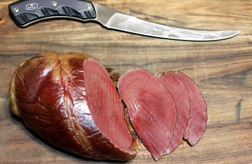 By first corning then smoking venison hearts, you can turn an often wasted cut of meat into an outstanding sandwich or snack.